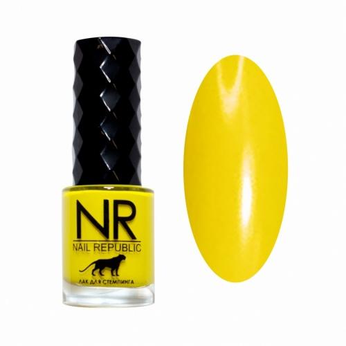 NR Лак для стемпинга №15 Солнечно-жёлтый (10 мл)