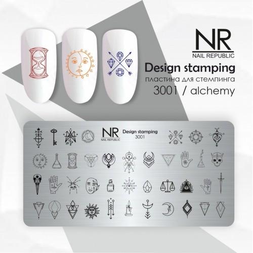 NR Пластина для стемпинга №3001