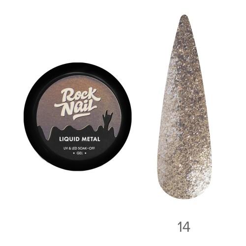 Гель-краска RockNail Liquid Metal 14 Golden Wine