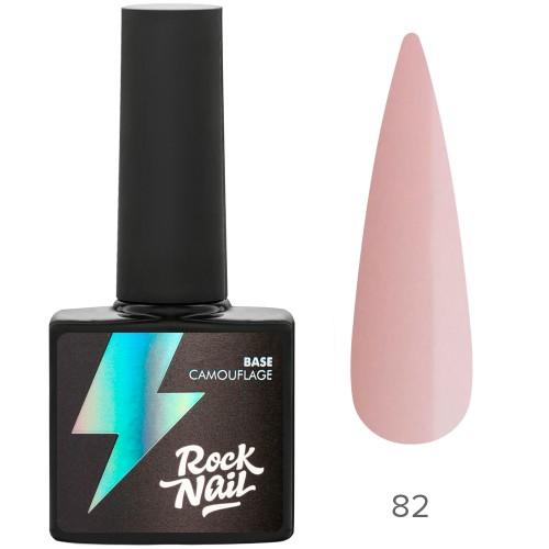 Камуфлирующая база RockNail 82 pink chiffon 10 мл