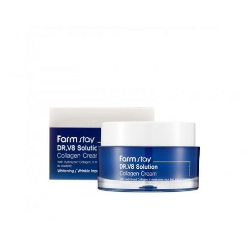 Farmstay Dr v8 solution Collagen Cream
