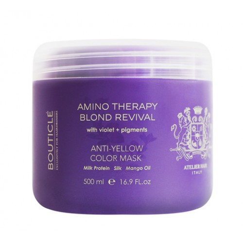 """Восстанавливающая маска с анти-желтым эффектом для осветленных волос """"Anti-Yellow Color Mask"""" 500 мл"""