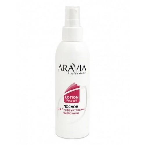 ARAVIA Professional Лосьон 2 в 1 против вросших и для замедления роста волос с фруктовыми кислотами , 150 мл
