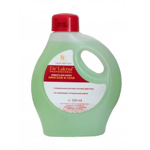 Жидкость для снятия биогеля De' Lakrua, 300 мл