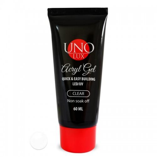 "Акригель AcrylGel  ""Uno Lux"", Clear, 60 ml."