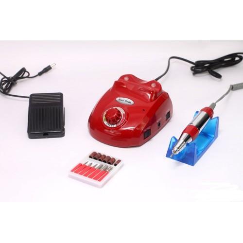 Аппарат для маникюра и педикюра «Nail Drill 505, 30 000 об/40Вт» Красный