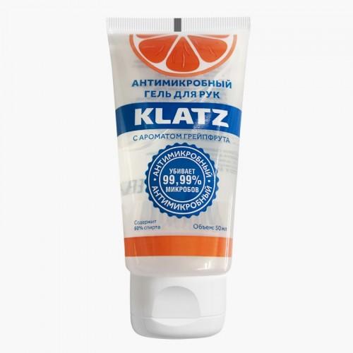 Антимикробный гель для рук с ароматом грейпфрута, 50 мл (Klatz, Antimicrobial)