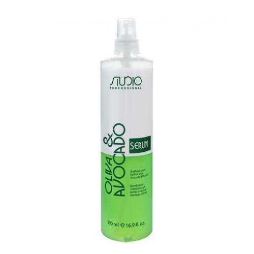 Двухфазная сыворотка для волос с маслами Авокадо и Оливы Kapous Studio Professional 500 мл