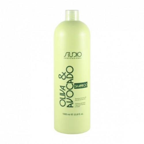 Шампунь для волос с маслами авокадо и оливы Kapous  Studio 1000мл