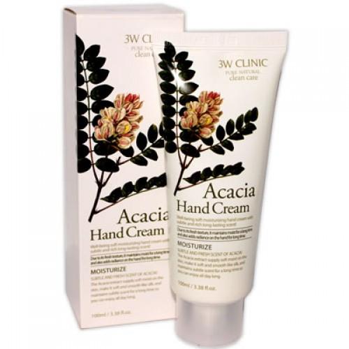 Крем д/рук увлажняющий с экстрактом АКАЦИИ Acacia Hand Cream, 100 м[3W CLINIC]