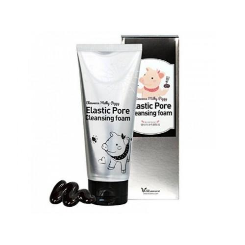 Пенка-маска д/умывания ЧЕРНАЯ Milky Piggy Elastic Pore Cleansing Foam, 120 мл [Elizavecca]