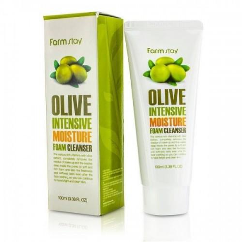 Интенсивно увлажняющая пенка с экстрактом оливы FarmStay Olive Intensive Moisture Foam Cleanser, 100 мл