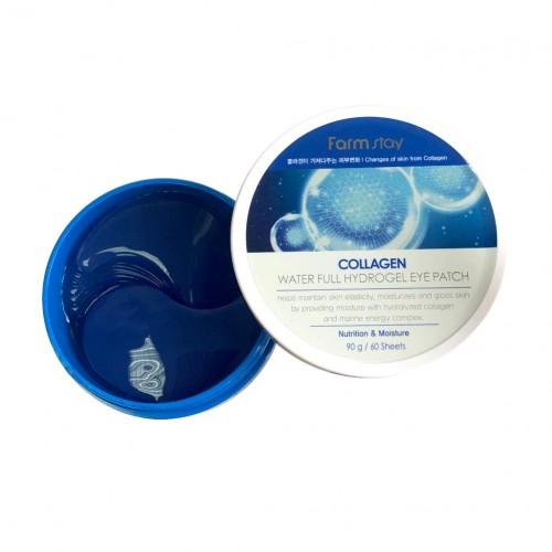 Гидрогелевые патчи для глаз с коллагеном Collagen Water Full Hydrogel Eye Patch FarmStay